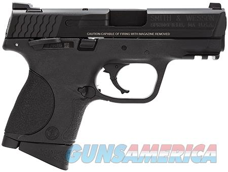 "Smith & Wesson 206304 M&P 9 Compact 9mm Luger 3.50"" 12+1 Black Interchangeable Backstrap Grip Black  Guns > Pistols > Smith & Wesson Pistols - Autos > Polymer Frame"