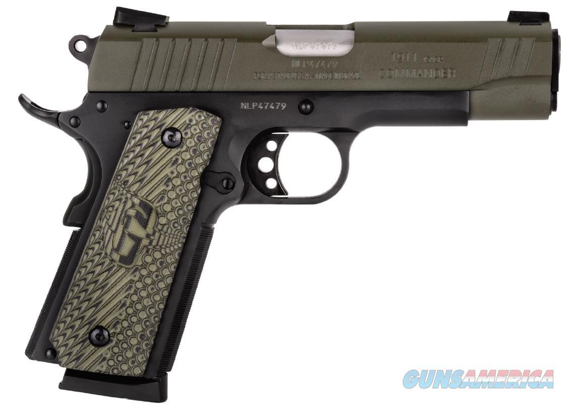 "Taurus 191101COMMGV 1911 Commander 45 Automatic Colt Pistol (ACP) Single 4.2"" 8+1 Gray VZ Grip Green  Guns > Pistols > TU Misc Pistols"