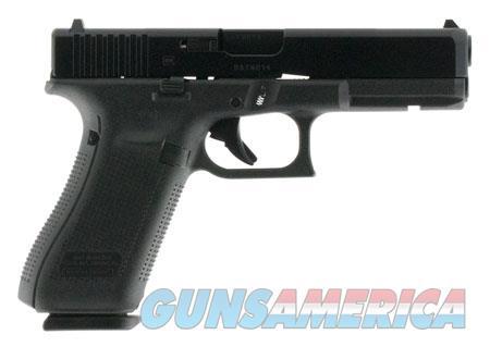 "Glock PA1750201 G17 Gen5 Double 9mm Luger 4.49"" 10+1 FS Black Interchangeable Backstrap Grip Black  Guns > Pistols > G Misc Pistols"