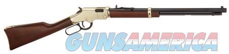 "Henry H004V Golden Boy  Lever 17 HMR 20"" 11+1 American Walnut Stk Brass Receiver/Blued Barrel  Guns > Rifles > H Misc Rifles"