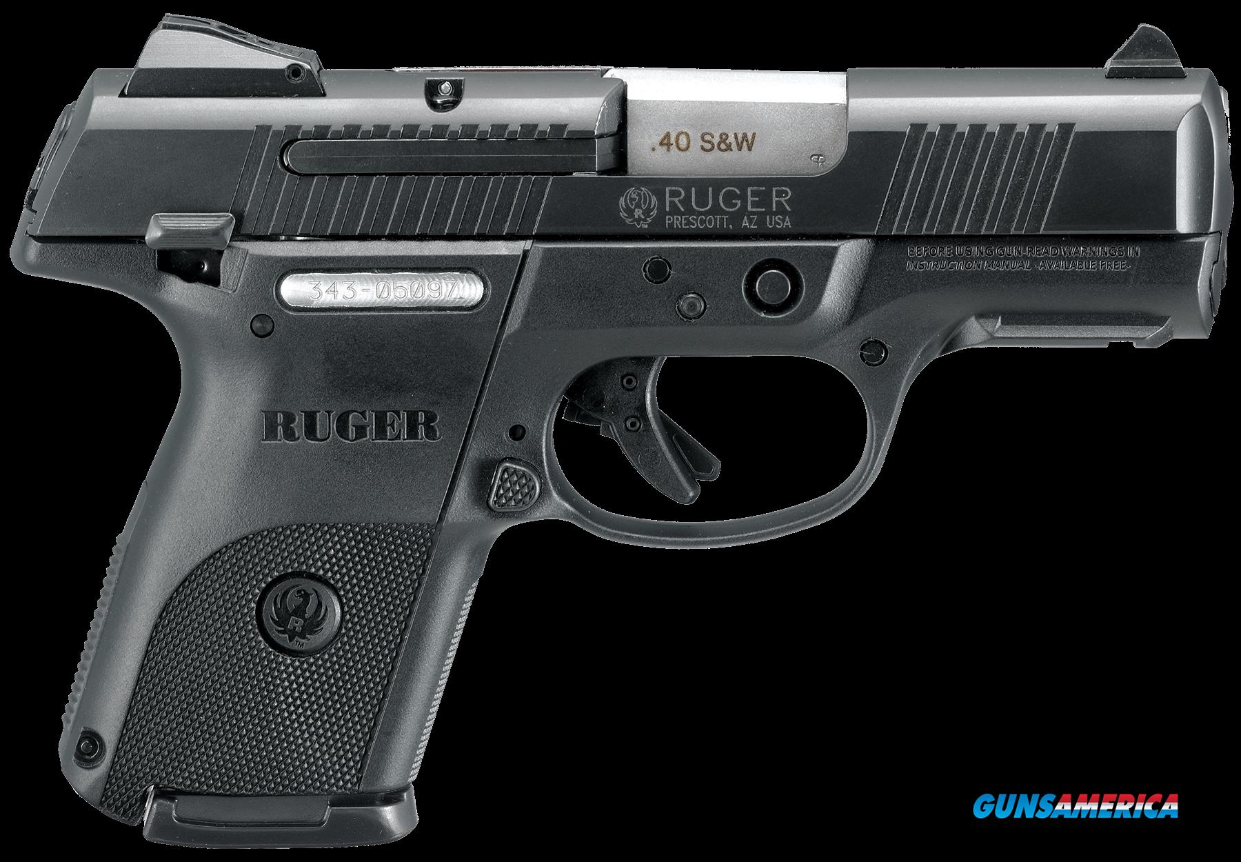 "Ruger 3477 SR40C Compact Double 40 Smith & Wesson (S&W) 3.5"" 15+1 Black Polymer Grip Black  Guns > Pistols > R Misc Pistols"