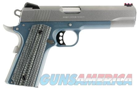 """Colt Mfg O1070CCSBT 1911 Competition 70 Series 45 ACP 5"""" 8+1 Blue Stainless Steel Gray G10 Grip  Guns > Pistols > C Misc Pistols"""