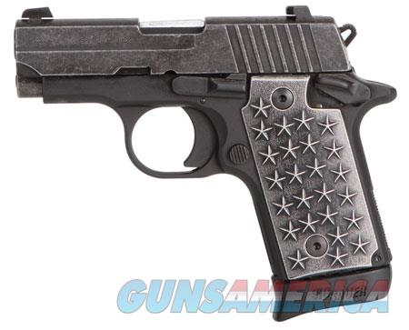 "Sig Sauer 238380WTP P238 We The People  380 ACP 2.70"" 7+1 Black Hardcoat Anodized Distressed  Guns > Pistols > S Misc Pistols"