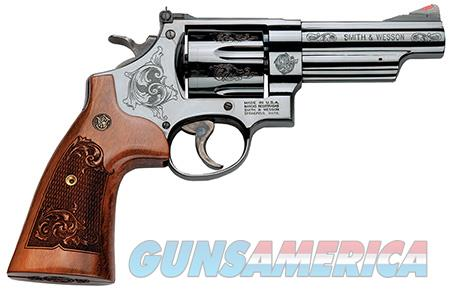 """Smith & Wesson 150783 29 Machine Engraved Single/Double 44 Remington Magnum 4"""" 6 rd Wood Engraved  Guns > Pistols > Smith & Wesson Revolvers > Full Frame Revolver"""