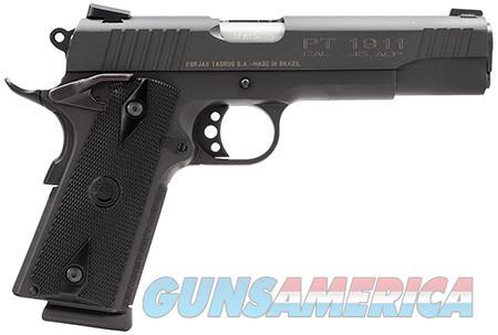 "Taurus 1191101FS 1911 Standard 45 ACP Single 5"" 8+1 Heinie Front Black Synthetic Grip Steel Alloy  Guns > Pistols > Taurus Pistols > Semi Auto Pistols > Steel Frame"