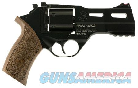 "Chiappa Firearms 340165 Rhino 40DS 9mm Luger 4"" 6 Round Black Walnut Grip  Guns > Pistols > C Misc Pistols"