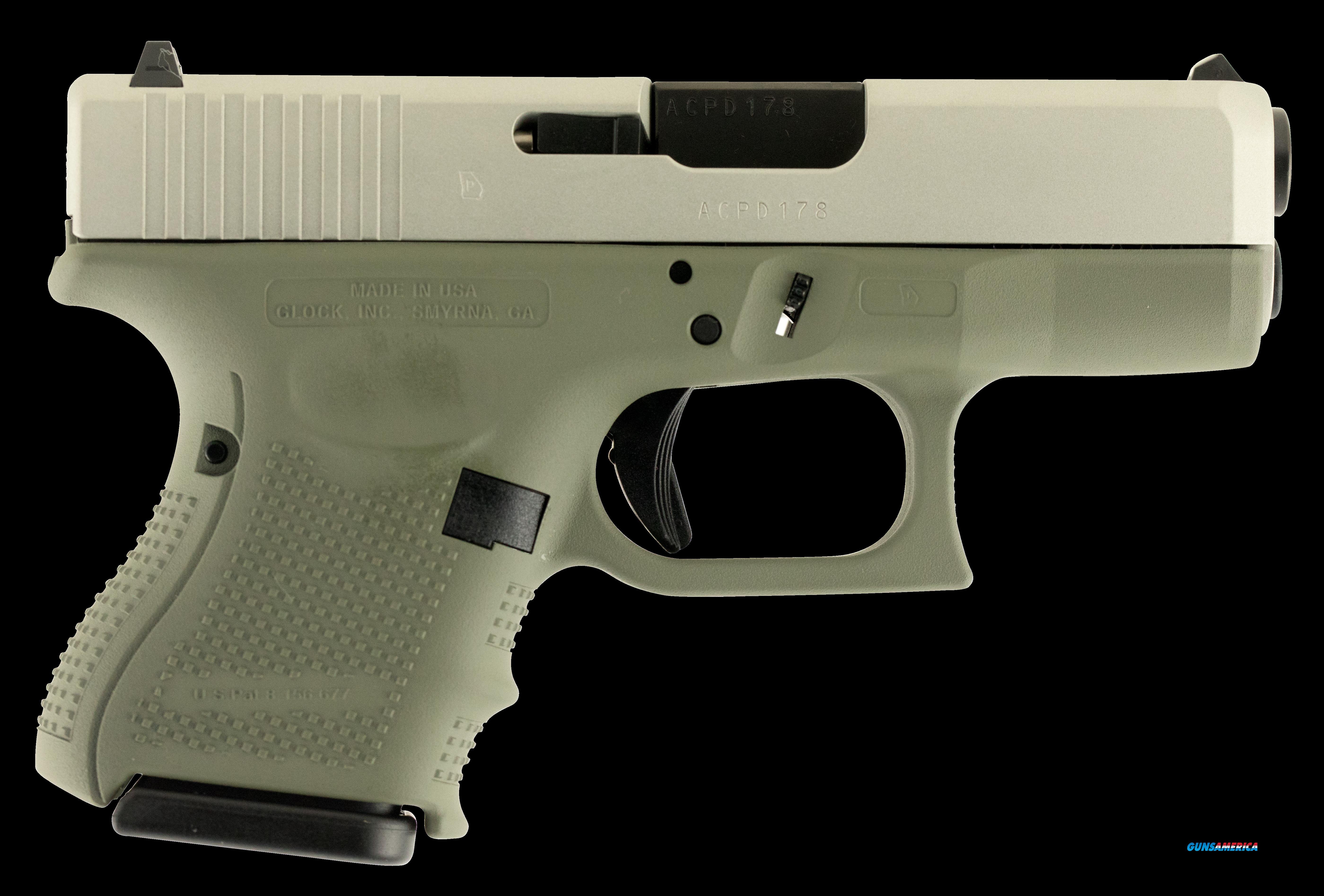 "Glock UG2650204 G26 Double 9mm Luger 3.5"" 10+1 Forest Green Polymer Grip Stainless  Guns > Pistols > G Misc Pistols"