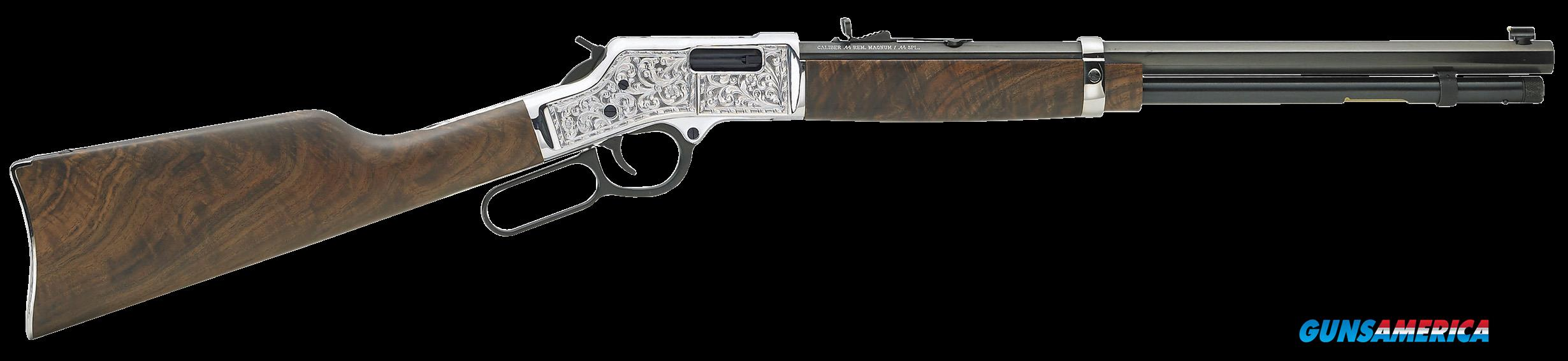 "Henry H006CSD Big Boy Silver Deluxe Engraved Lever 45 Colt (LC) 20"" 10+1 American Walnut Stk Blued  Guns > Rifles > Henry Rifles - Replica"