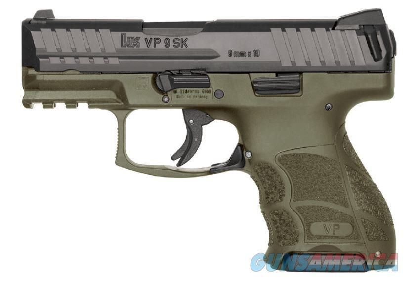 "HK 81000097 VP9 SK  9mm Luger Double 3.39"" 10+1 OD Green Interchangeable Backstrap Grip Black Slide  Guns > Pistols > H Misc Pistols"