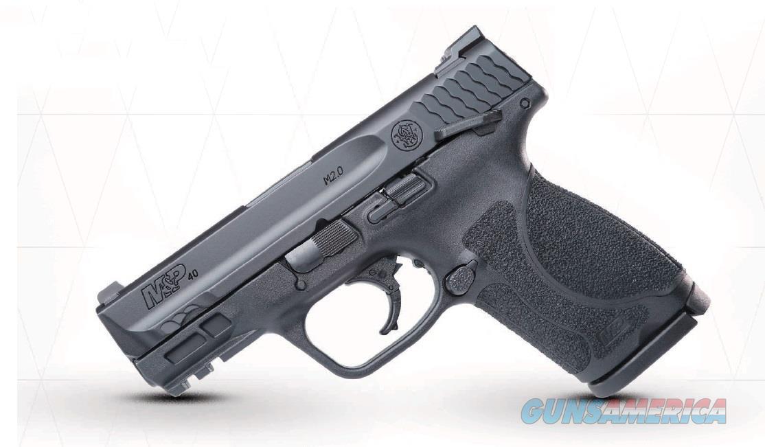 "Smith & Wesson 11695 M&P 40 M2.0 Compact Double 9mm Luger 3.6"" 13+1 TS Black Interchangeable  Guns > Pistols > S Misc Pistols"