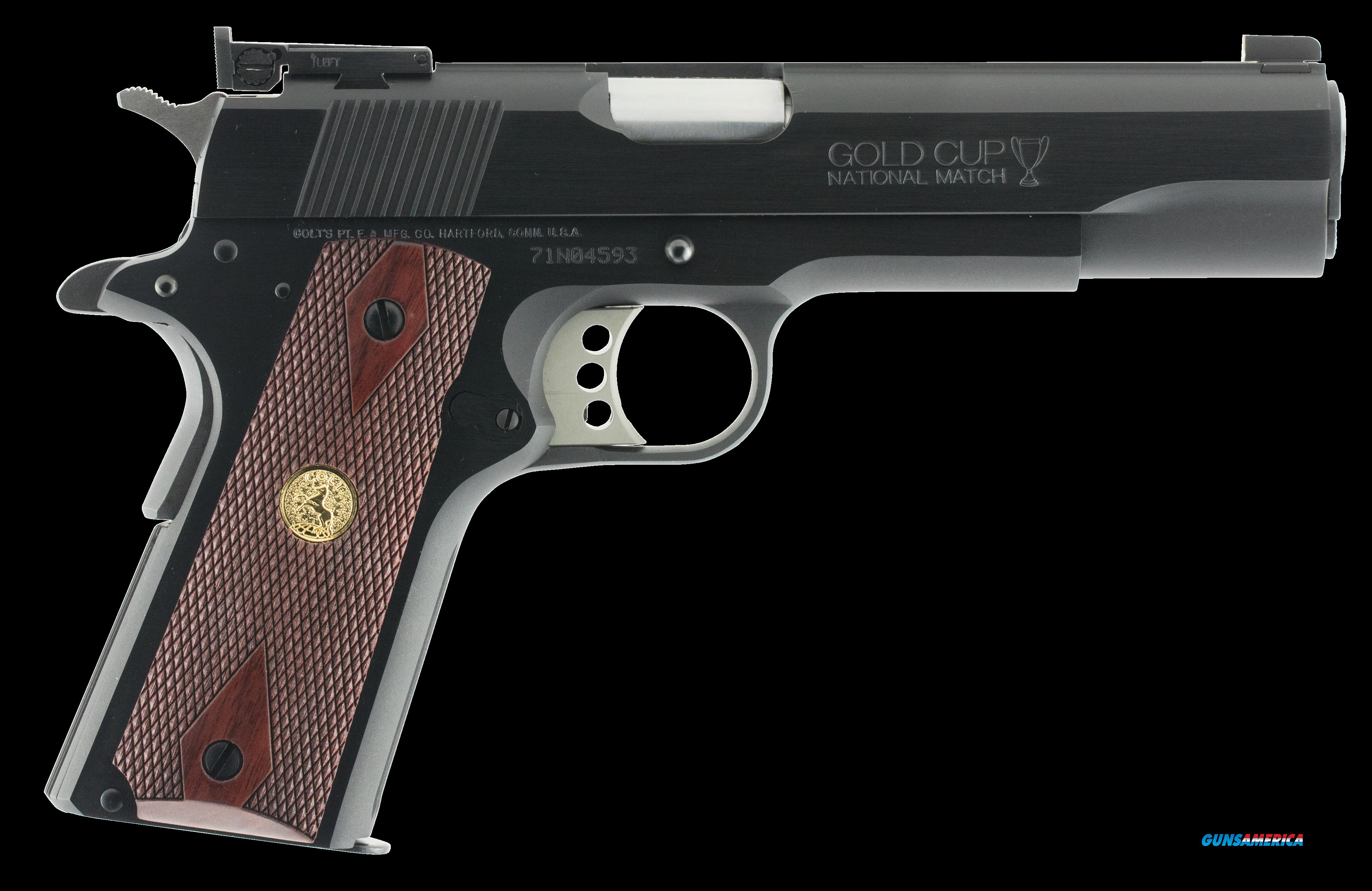 "Colt Mfg O5870A1 1911 Gold Cup National Match Series 70 SAO 45 ACP 5"" 8+1 Rosewood Grip Blued  Guns > Pistols > Colt Automatic Pistols (1911 & Var)"
