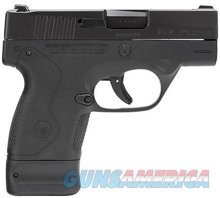"Beretta USA JMN9S15 BU9 Nano 9mm Luger Single 3"" 6+1/8+1 Black Polymer Grip/Frame Black  Guns > Pistols > Beretta Pistols > Polymer Frame"