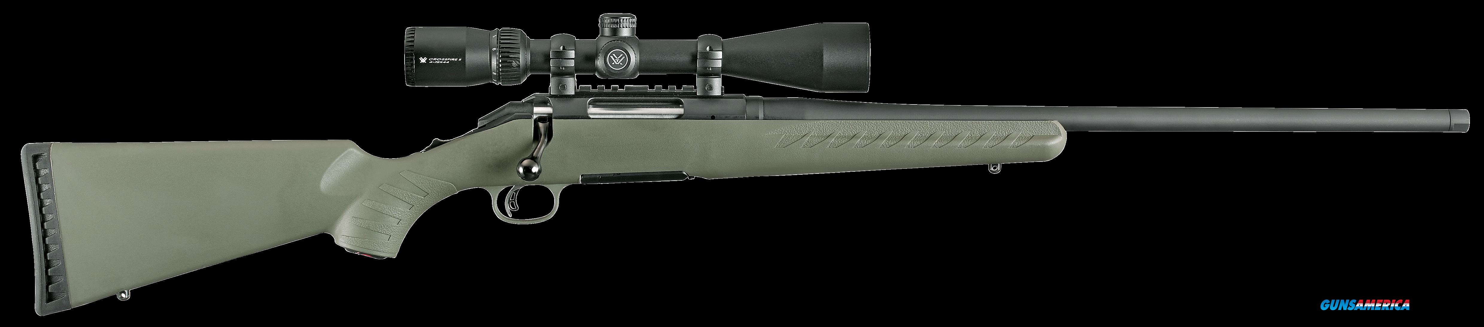 "Ruger 16952 American Predator Bolt 204 Ruger 22"" TB 5+1 Synthetic Moss Green Stk Black  Guns > Rifles > R Misc Rifles"