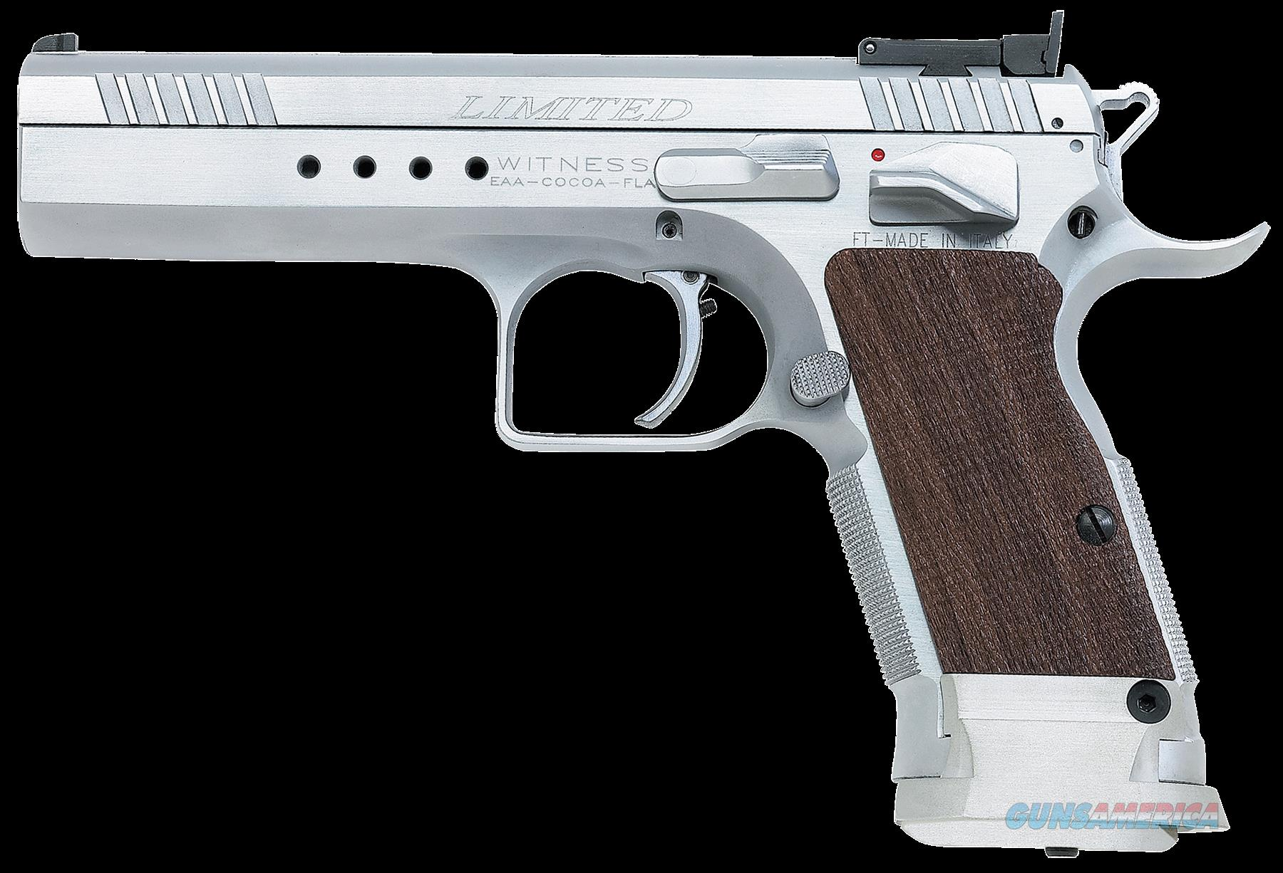 "EAA 600320 Witness Elite Limited 40 S&W 4.75"" 15+1 Wood Grip Chrome Finish  Guns > Pistols > EAA Pistols > Other"