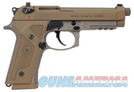 "Beretta USA J92M9A3M M9 Italy Type F Single/Double 9mm Luger 5"" 17+1 Flat Dark Earth Hogue  Guns > Pistols > Beretta Pistols > M9"