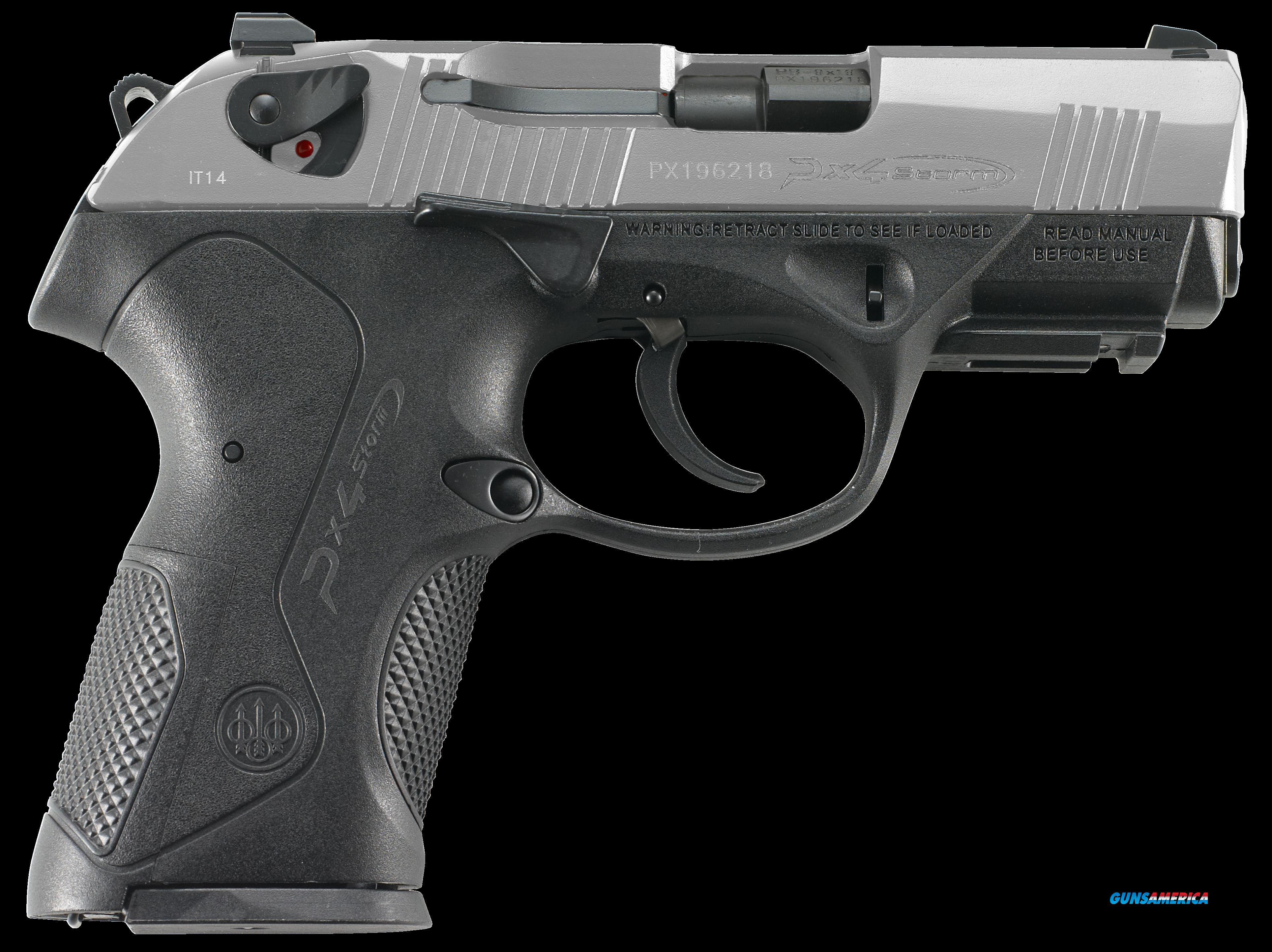 "Beretta USA JXC9F50 Px4 Storm Compact Single/Double 9mm Luger 3.27"" 10+1 Black Interchangeable  Guns > Rifles > Beretta Rifles > Storm"