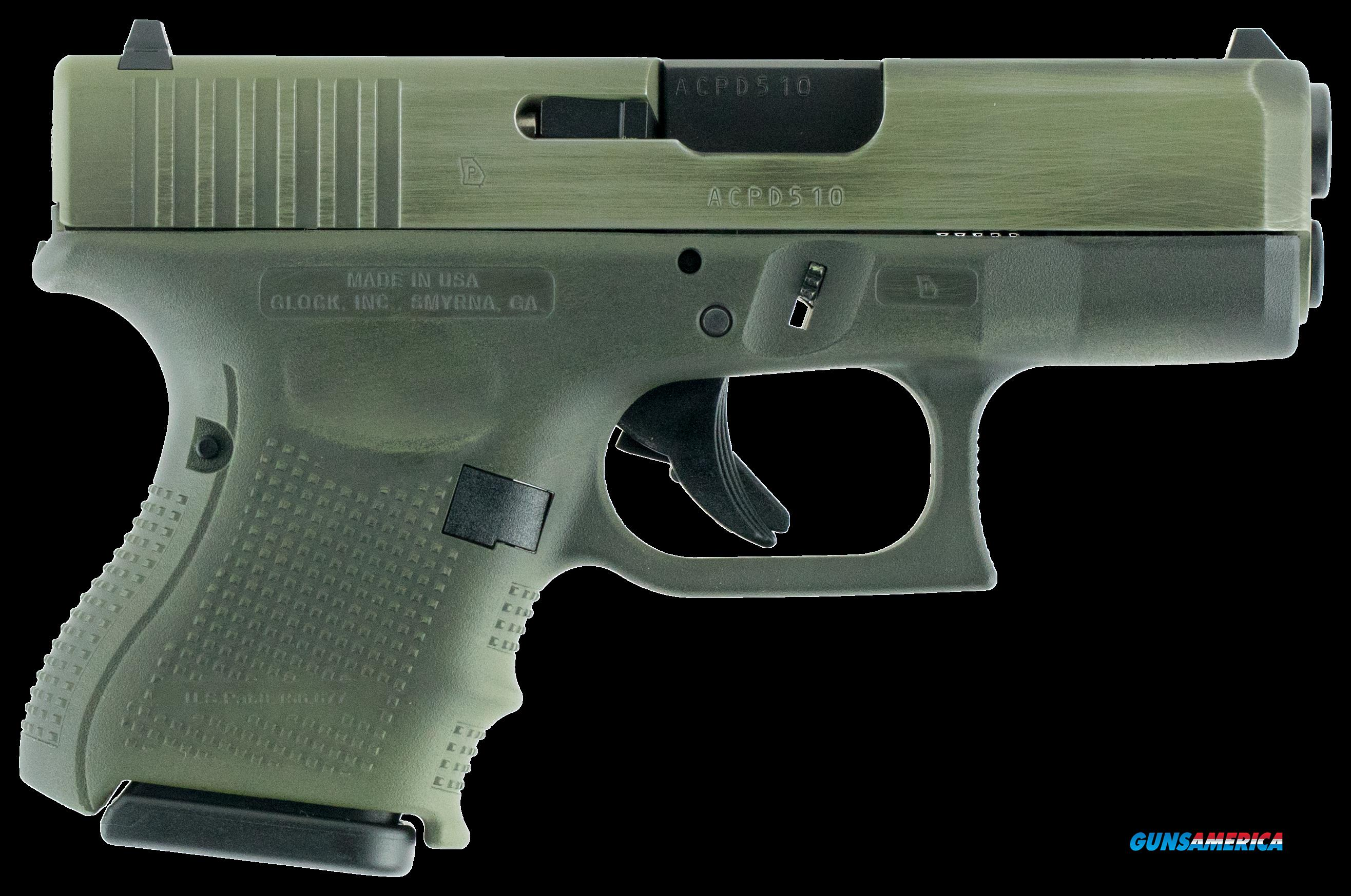 "Glock UG2650204 G26 Gen 4 Double 9mm Luger 3.42"" 10+1 OD Green Interchangeable Backstrap Grip OD  Guns > Pistols > G Misc Pistols"