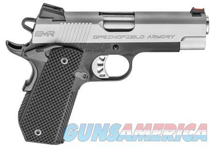 "Springfield Armory PI9229L 1911 EMP Conceal Carry 9mm Luger Single 4"" 9+1 Black G10 Grip Black  Guns > Pistols > S Misc Pistols"