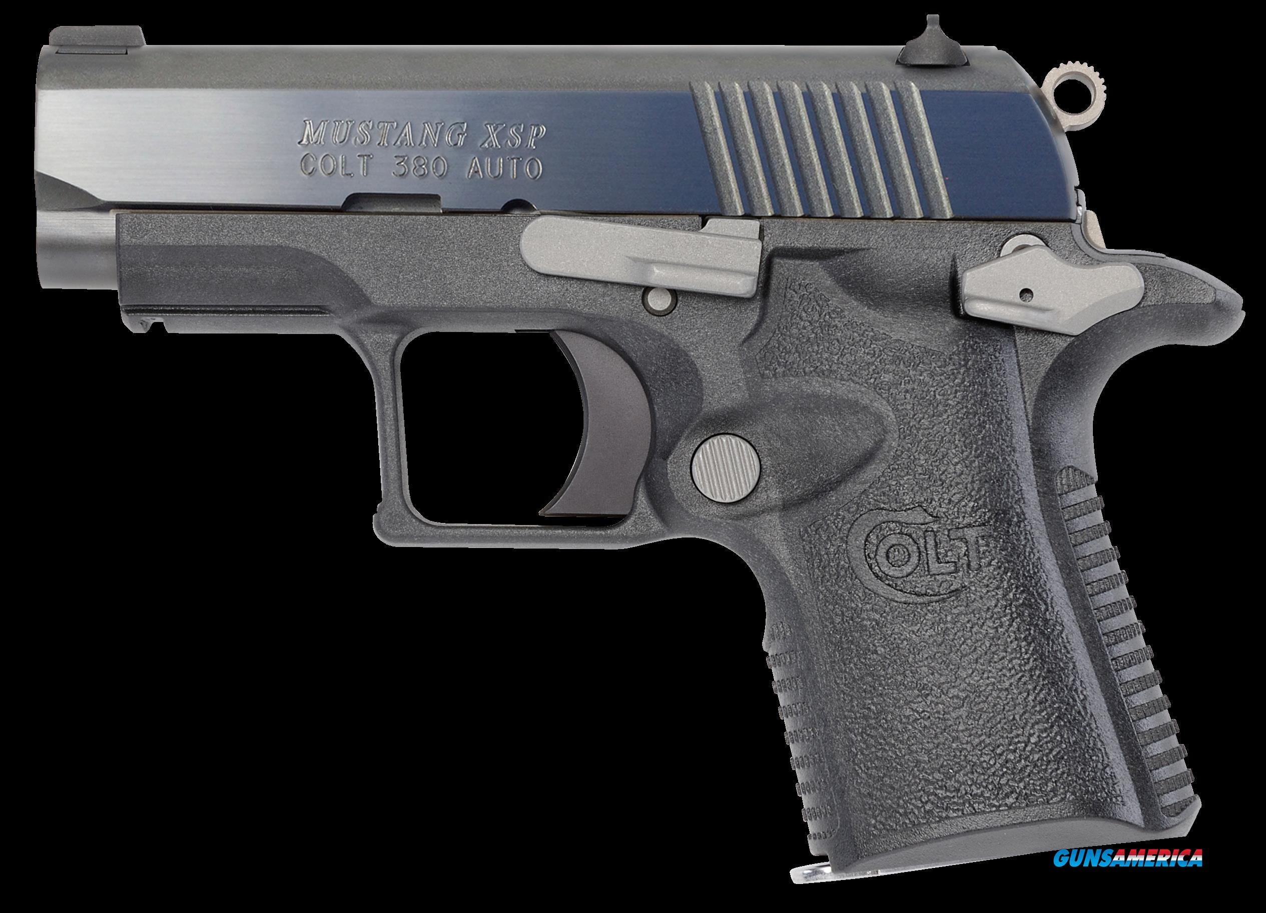 "Colt Mfg O6790ST Mustang Dual Tone XSP Single 380 Automatic Colt Pistol (ACP) 2.75"" 6+1 Gray Polymer  Guns > Pistols > Colt Automatic Pistols (.25, .32, & .380 cal)"