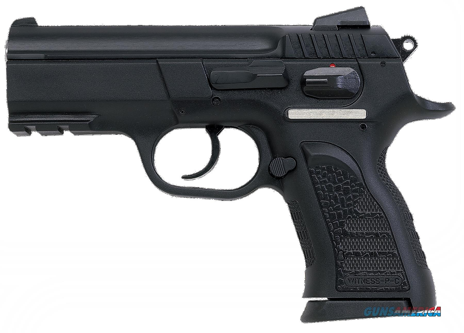 "EAA 999108 Witness P Compact SA/DA 40S&W 3.6"" 12+1 Poly Grip/Frame Blk  Guns > Pistols > E Misc Pistols"