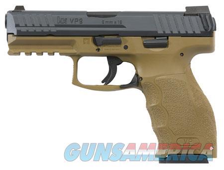 "HK 700009FDELEA VP9 FDE  9mm Luger Double 4.09"" 15+1 Flat Dark Earth Interchangeable Backstrap Grip  Guns > Pistols > Heckler & Koch Pistols > Polymer Frame"