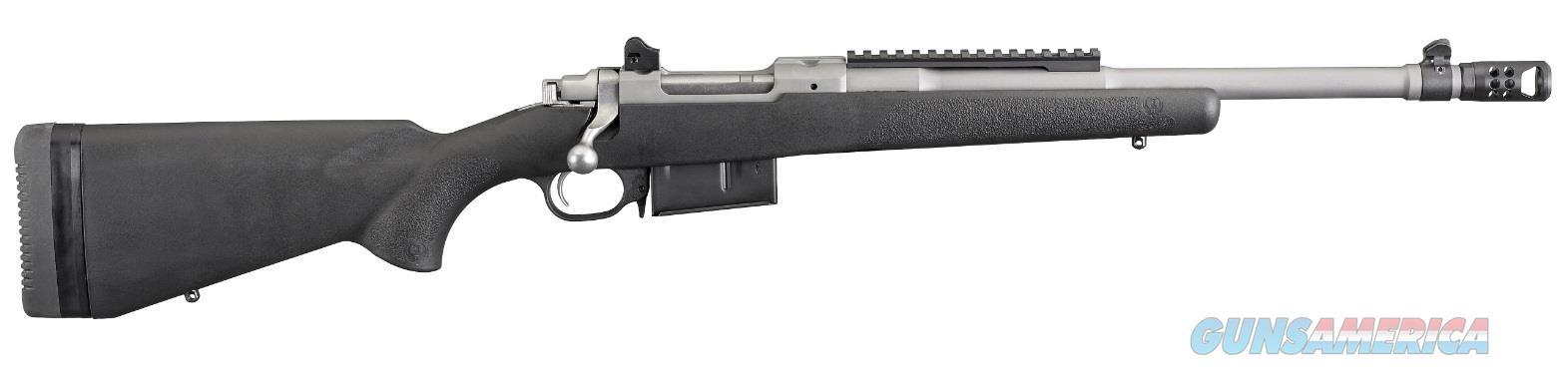 "Ruger 6838 Gunsite Scout Bolt 450 Bushmaster 16.1"" 4+1 Synthetic Black Stk Stainless Steel  Guns > Rifles > R Misc Rifles"