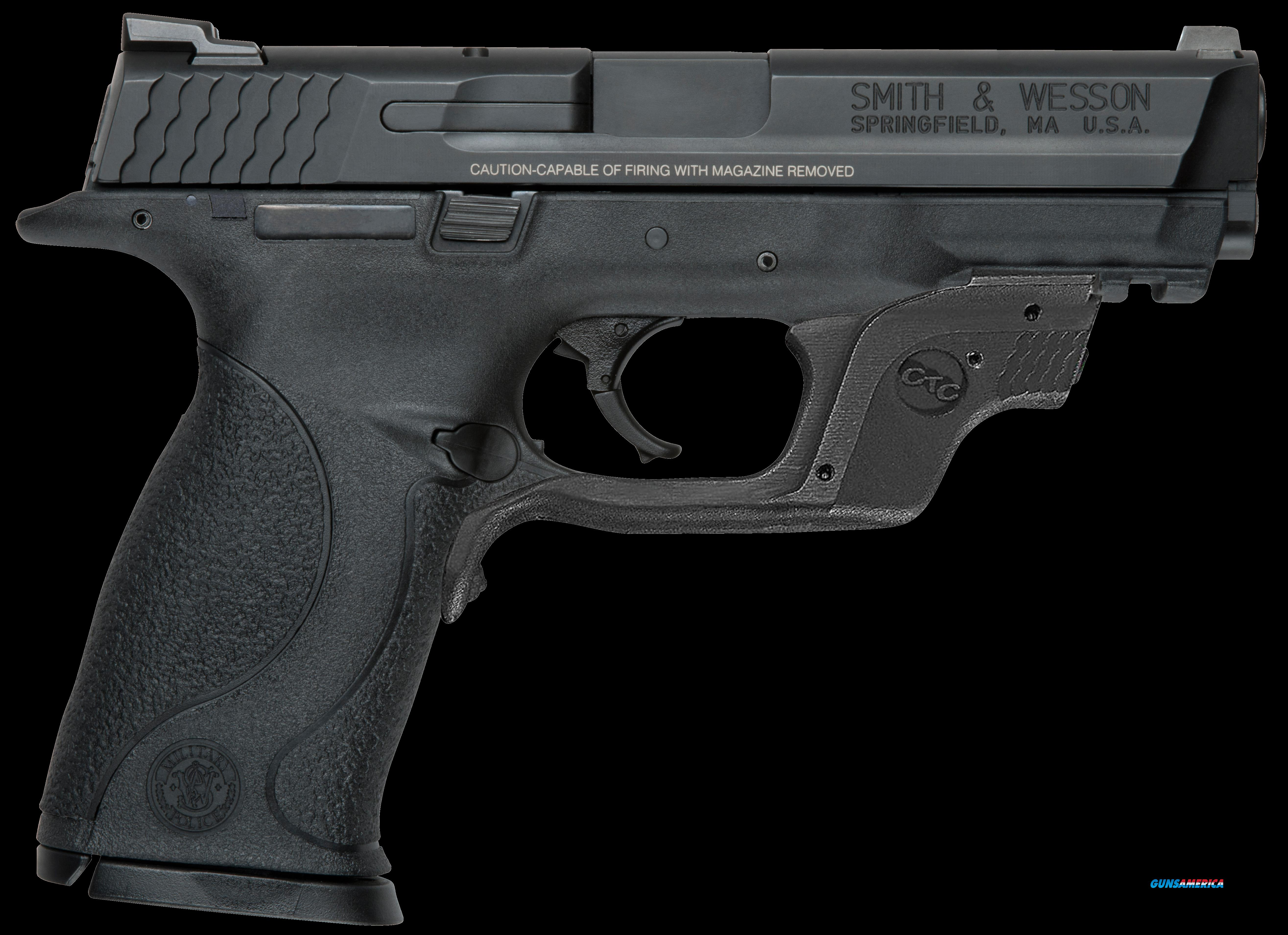 "Smith & Wesson 10175 M&P 40 with Crimson Trace Green Laserguard Double 40 S&W 4.25"" 15+1 Black  Guns > Pistols > S Misc Pistols"
