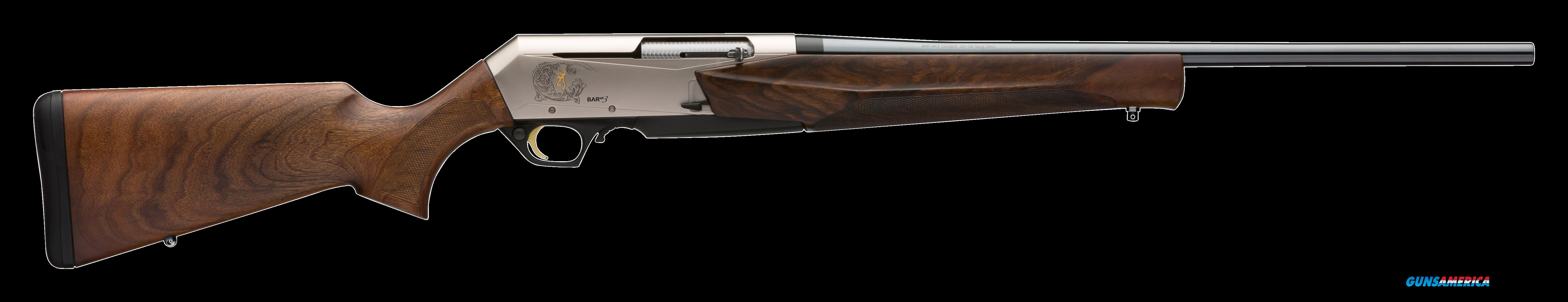 "Browning 031047218 BAR MK3 Semi-Automatic 308 Winchester/7.62 NATO 22"" 4+1 Turkish Walnut Stock  Guns > Rifles > Browning Rifles > Semi Auto > Hunting"