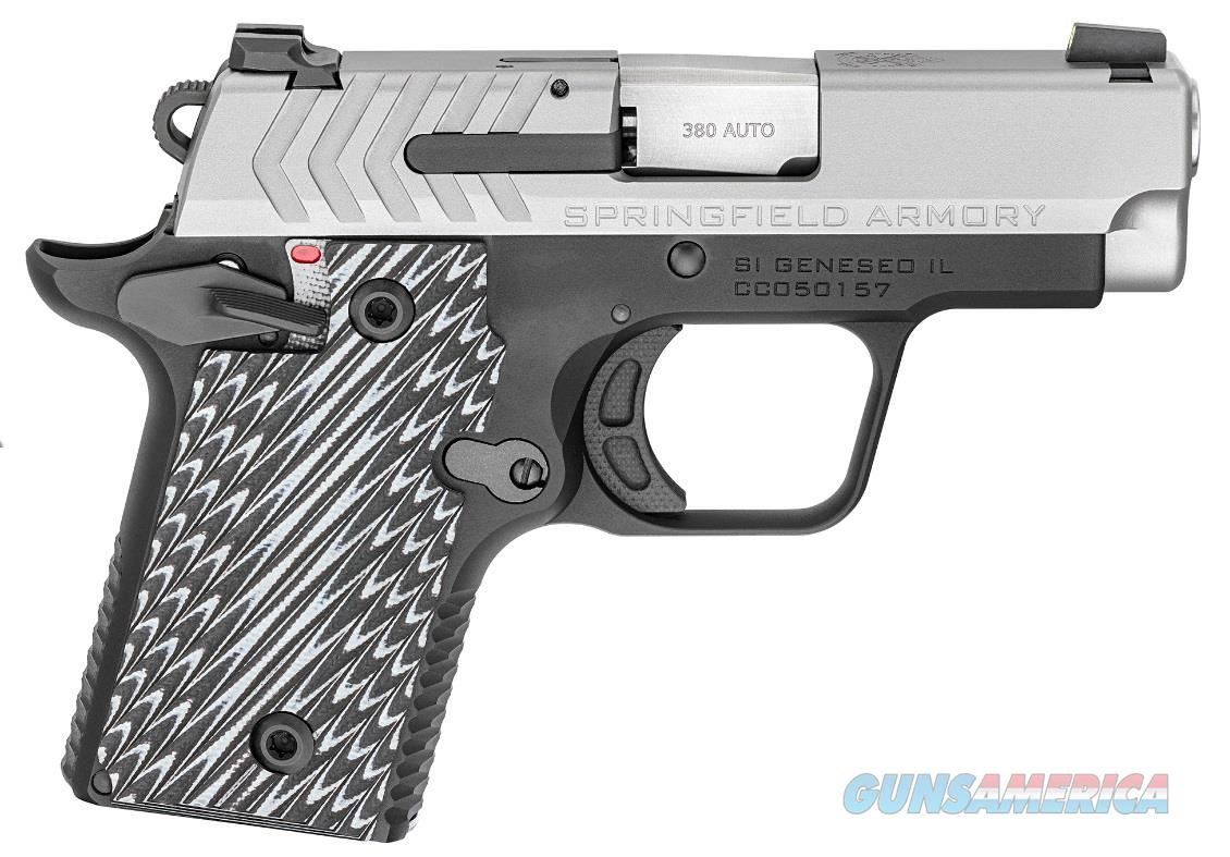"Springfield Armory PG9109S 911  380 Automatic Colt Pistol (ACP) Single 2.7"" 6+1/7+1 Black/Gray G10  Guns > Pistols > Springfield Armory Pistols > 1911 Type"