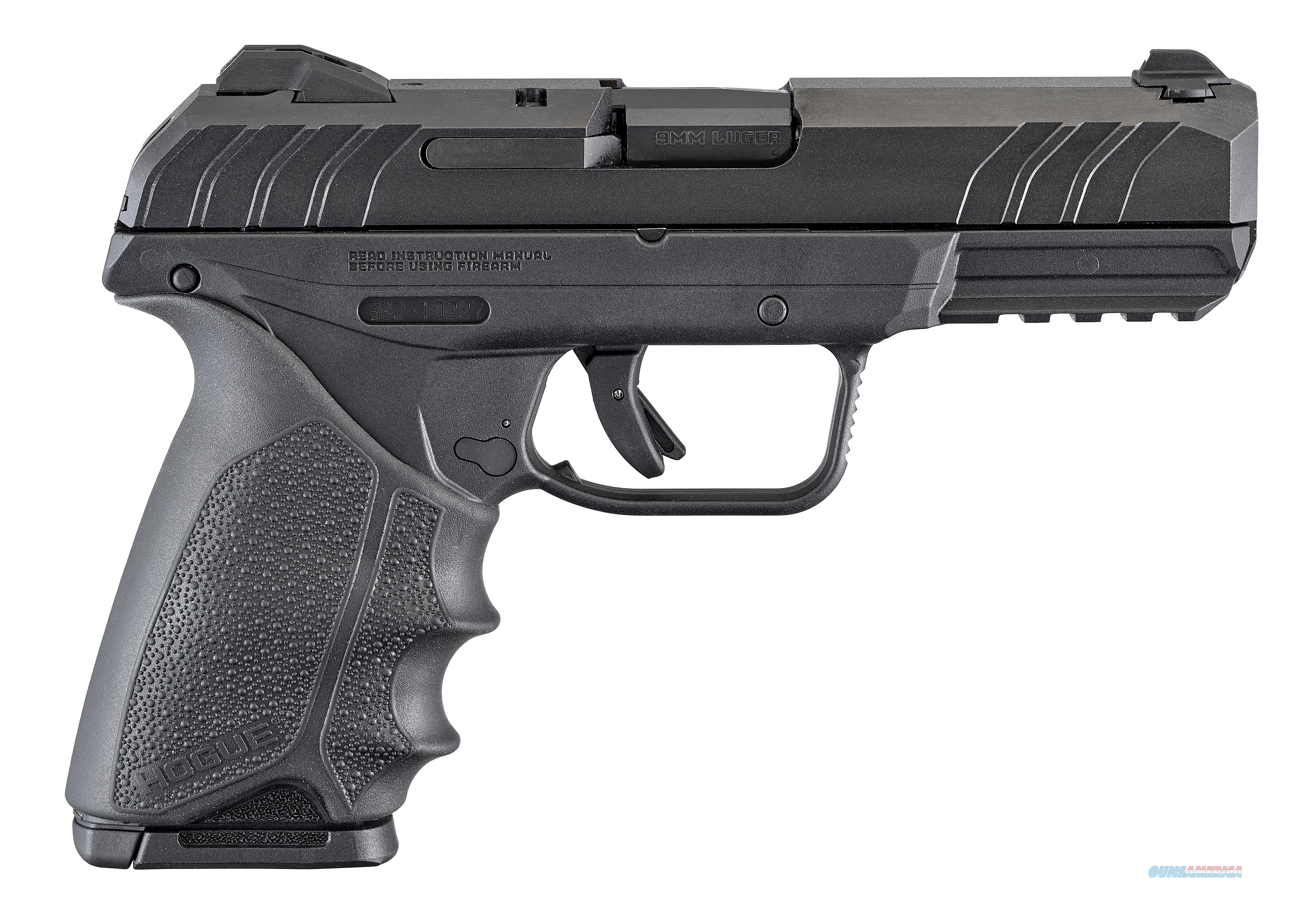 "Ruger 3819 Security9  9mm Luger Double 4"" 10+1 Black Hogue HandALL Rubber Grip Black Polymer Frame  Guns > Pistols > R Misc Pistols"