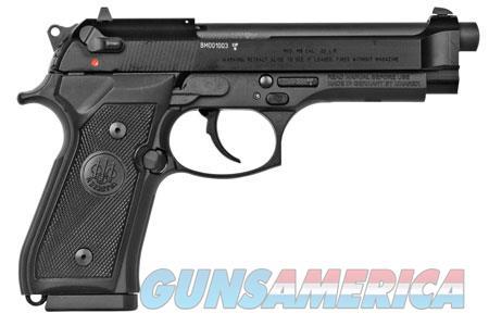 "Beretta USA J90A1M9F19 M9 22LR Single/Double 22 Long Rifle (LR) 5.3"" 15+1 Black Rubber Grip Black  Guns > Pistols > Beretta Pistols > M9"