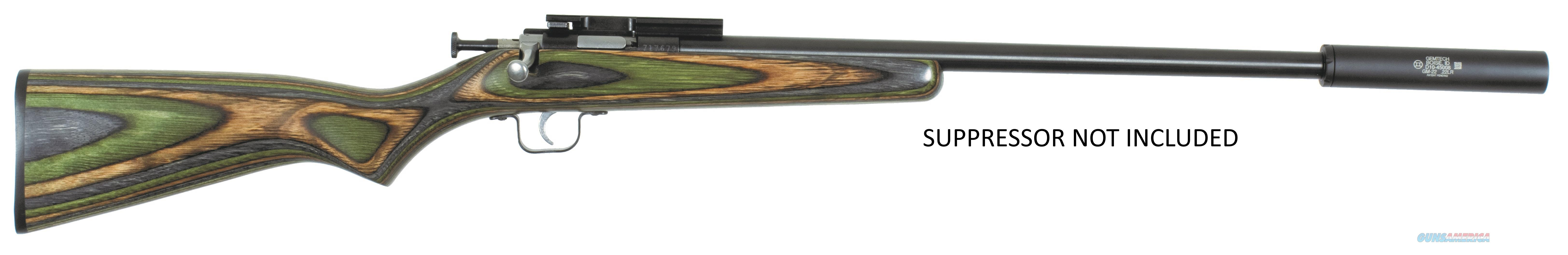 Keystone Sporting Arms CRICKETT 22LR BL/CAMO LAM TB SINGLE-SHOT | THREADED BARREL  Guns > Rifles > K Misc Rifles