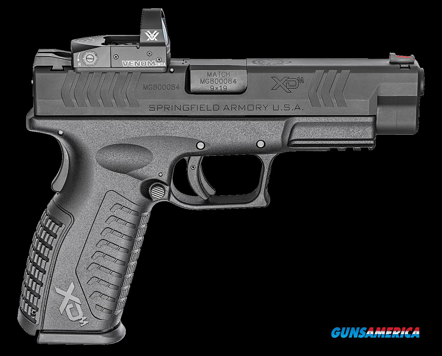 "Springfield Armory XDM9459BHCOSP XD(M) OSP Double 9mm Luger 4.5"" 19+1 Black Interchangeable  Guns > Pistols > Springfield Armory Pistols > XD-M"