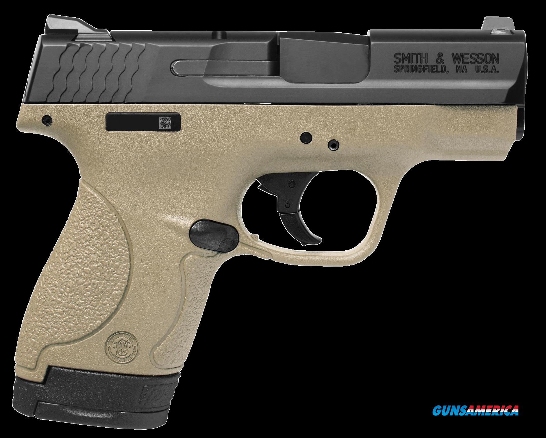 "Smith & Wesson 10303 M&P 9 Shield Double 9mm Luger 3.1"" 7+1/8+1 Flat Dark Earth Polymer Grip/Frame  Guns > Pistols > S Misc Pistols"