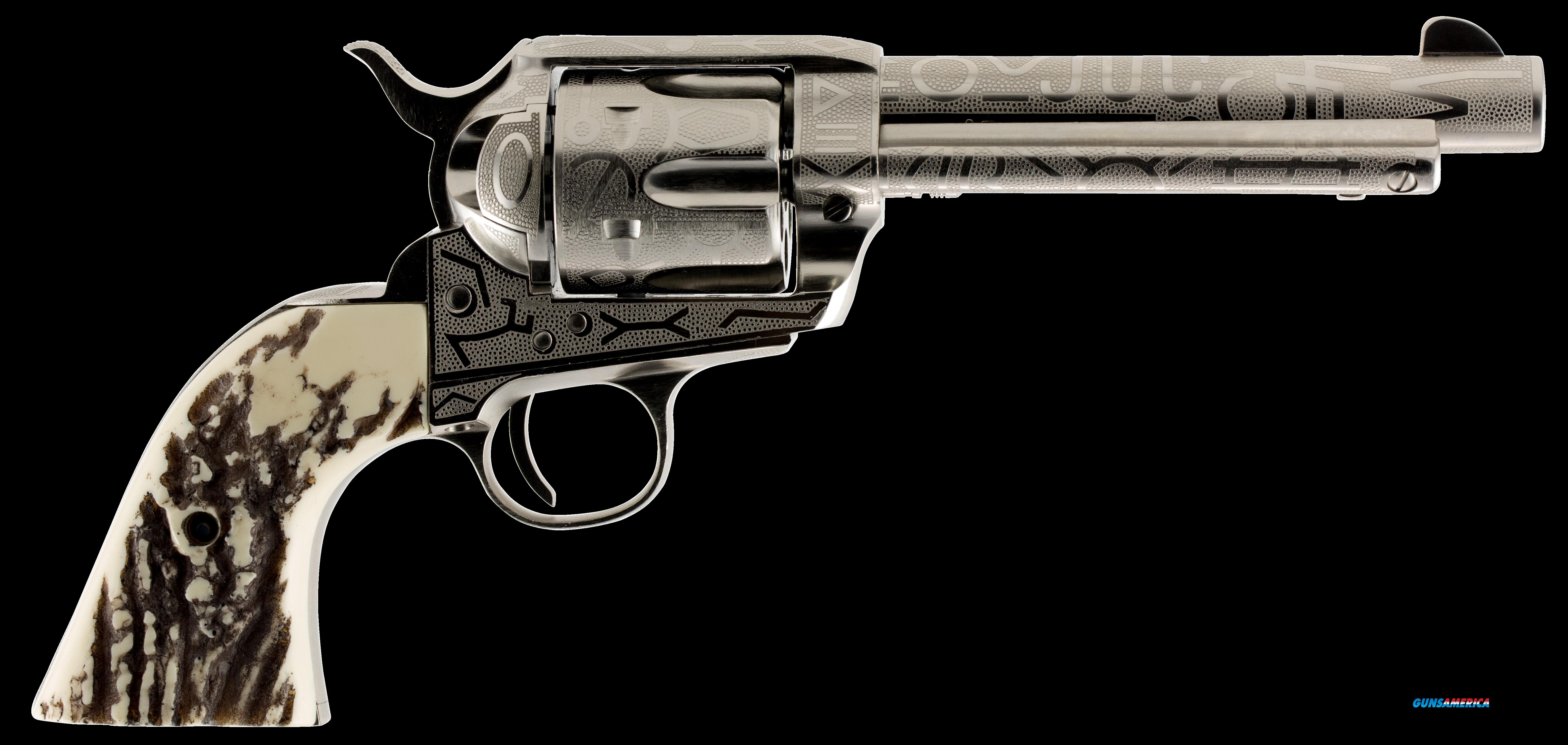 "Taylors and Company OG1407 1873 Cattleman Single 357 Magnum 5.5"" 6 Ivory Synthetic Nickel  Guns > Pistols > TU Misc Pistols"