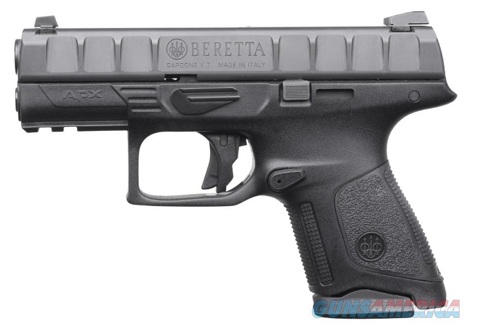 "Beretta USA JAXC921 APX Compact 9mm Luger Double 3.7"" 13+1 Black Interchangeable Backstrap Grip  Guns > Pistols > Beretta Pistols > Polymer Frame"