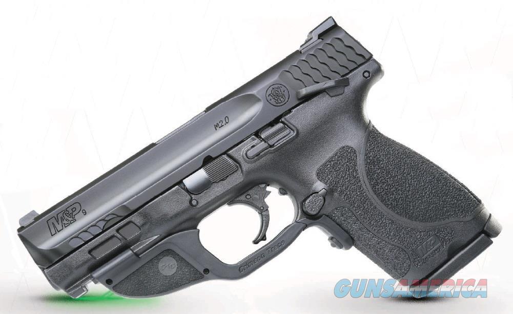 """Smith & Wesson 12414 M&P 9 M2.0 Compact Crimson Trace Laserguard 9mm Luger Double 4"""" 15+1 Black  Guns > Pistols > S Misc Pistols"""