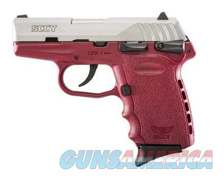 SCCY Industries CPX-1 9MM SS/CRIMSON 10+1 SFTY CRIMSON POLYMER FRAME  Guns > Pistols > S Misc Pistols