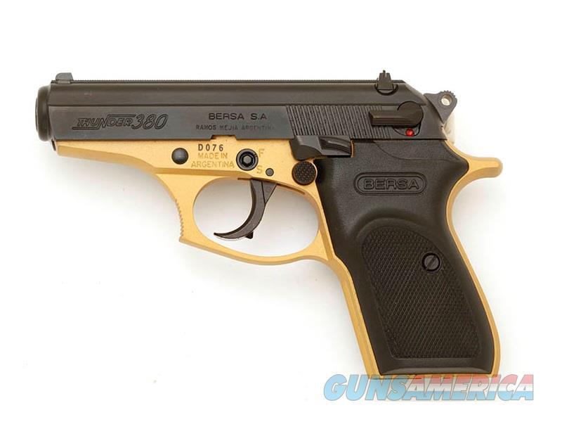 Thunder 380 Gold/Black 380Acp T380GLD8  Guns > Pistols > Bersa Pistols