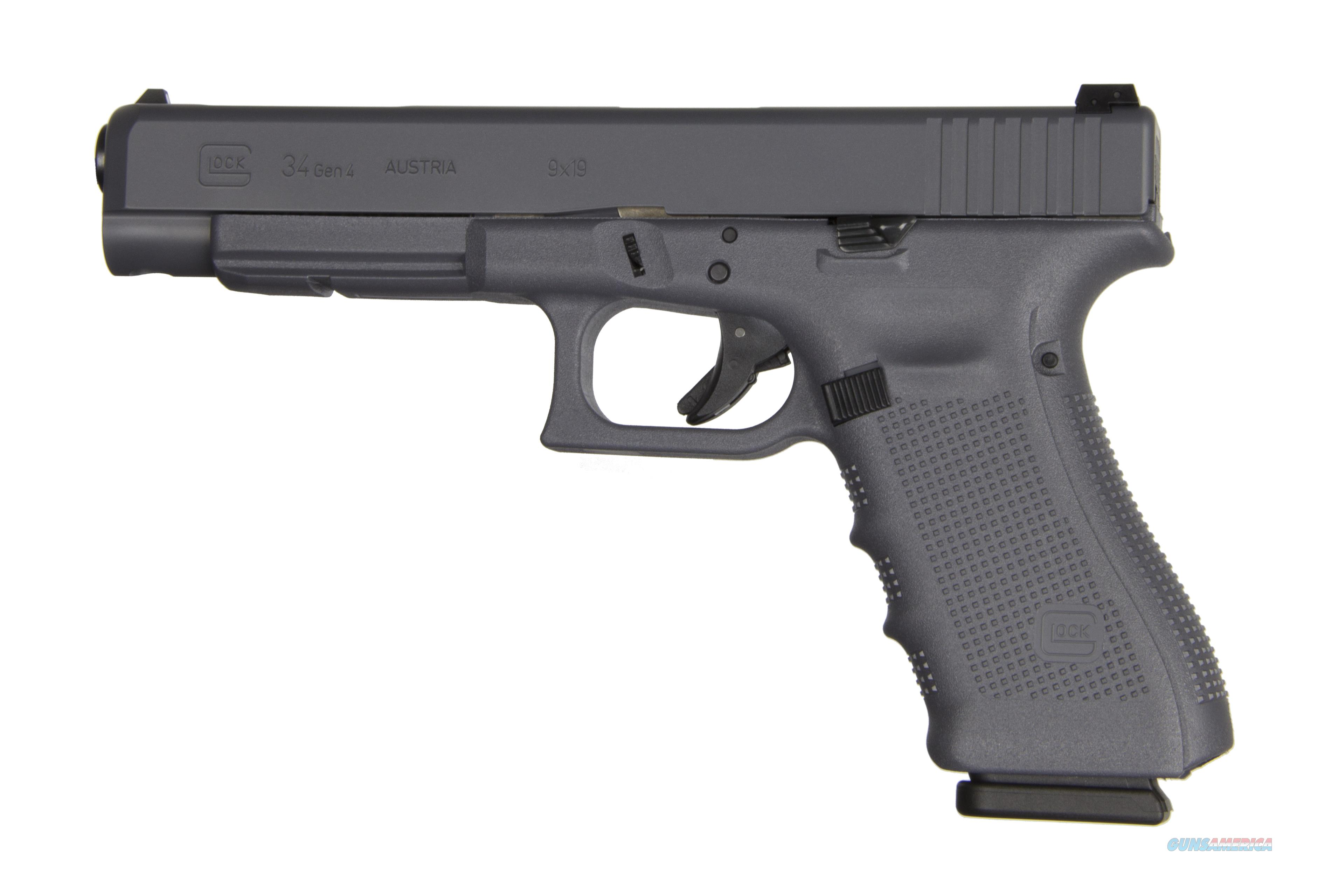 "GLOCK G34 G4 GRAY 9MM 10+1 5.3"" AS PG3430101GF  Guns > Pistols > G Misc Pistols"