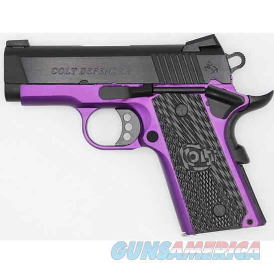 Talo Defender 45Acp 3 Blued Purple Frame 1/400 CLT O7800XEAP  Guns > Pistols > TU Misc Pistols
