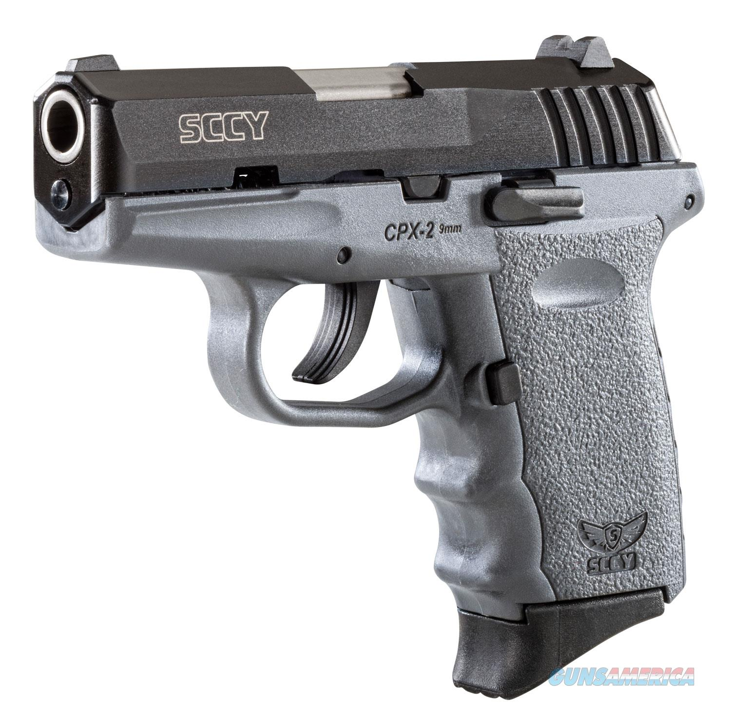 """Sccy Industries Cpx2cbsg Cpx-2 Double 9Mm 3.1"""" 10+1 Gray Polymer Grip/Frame Grip Black Nitride Stainless Steel CPX 2CBSG  Guns > Pistols > S Misc Pistols"""