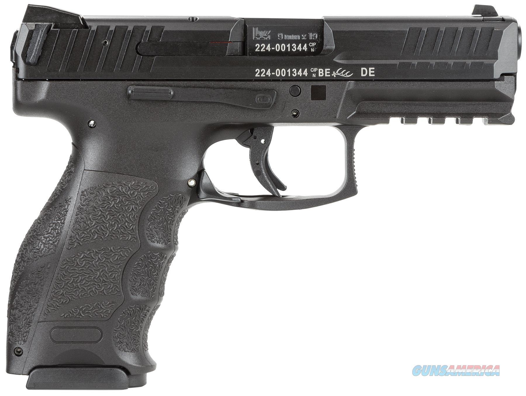 "Heckler & Koch 700009A5 Vp9 *Ma Compliant* Double 9Mm Luger 4.09"" 10+1 2 Mags Black Interchangeable Backstrap Grip Black 700009-A5  Guns > Pistols > H Misc Pistols"