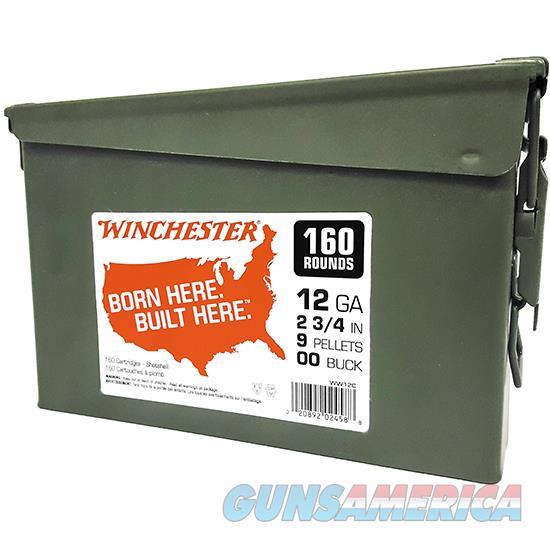 Winchester Ammo 12Ga 2..75 00 Buck 160Rd Can WW12C  Guns > Rifles > W Misc Rifles