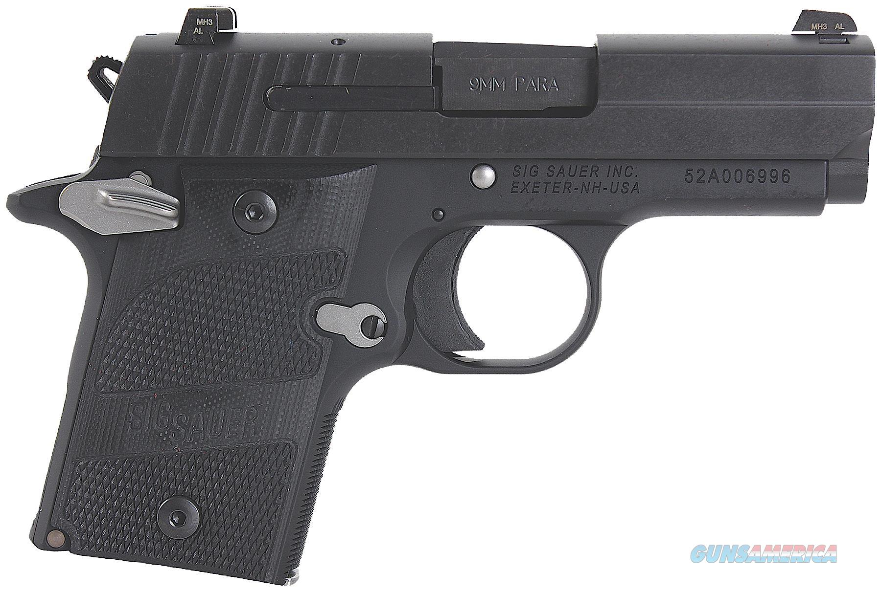 "Sig Sauer 9389Nmrambi P938 Micro-Compact Nightmare Single 9Mm Luger 3"" 6+1 Black G10 Grip Black Nitron Stainless Steel 938-9-NMR-AMBI  Guns > Pistols > S Misc Pistols"