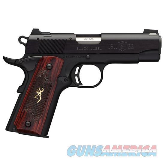 Browning 1911-22 Blk Label Cp Medallion 22Lr 3 5/8 10 051852490  Guns > Pistols > B Misc Pistols