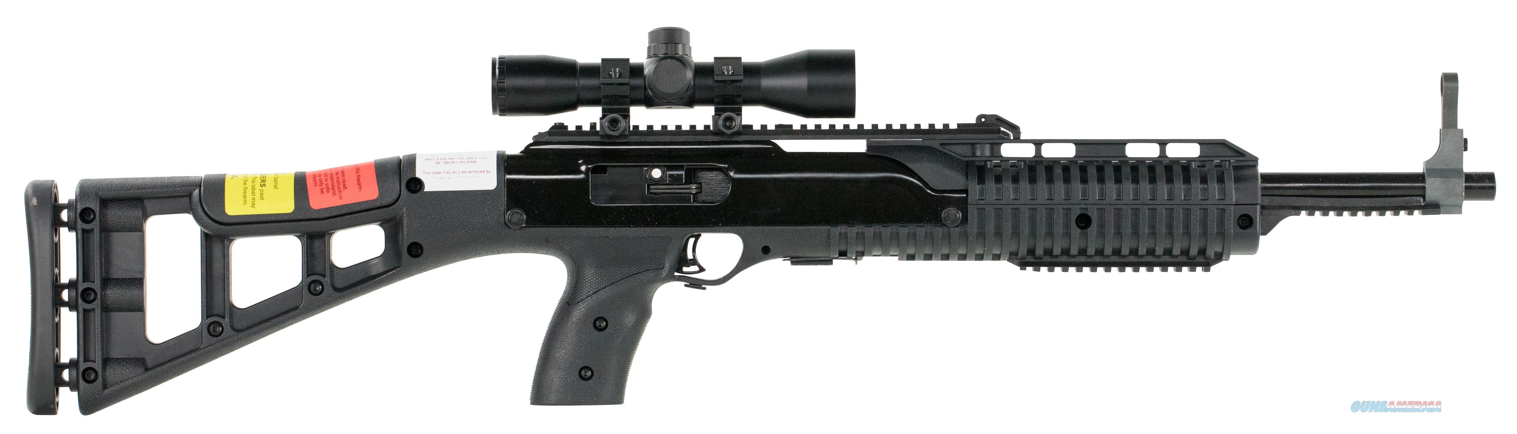 "Hi-Point 4595Ts4x32 4595Ts Carbine Semi-Automatic 45 Automatic Colt Pistol (Acp) 17.5"" 9+1 W/4X32 Scope Polymer Skeleton Black Stk Black 4595TS4X32  Guns > Rifles > H Misc Rifles"