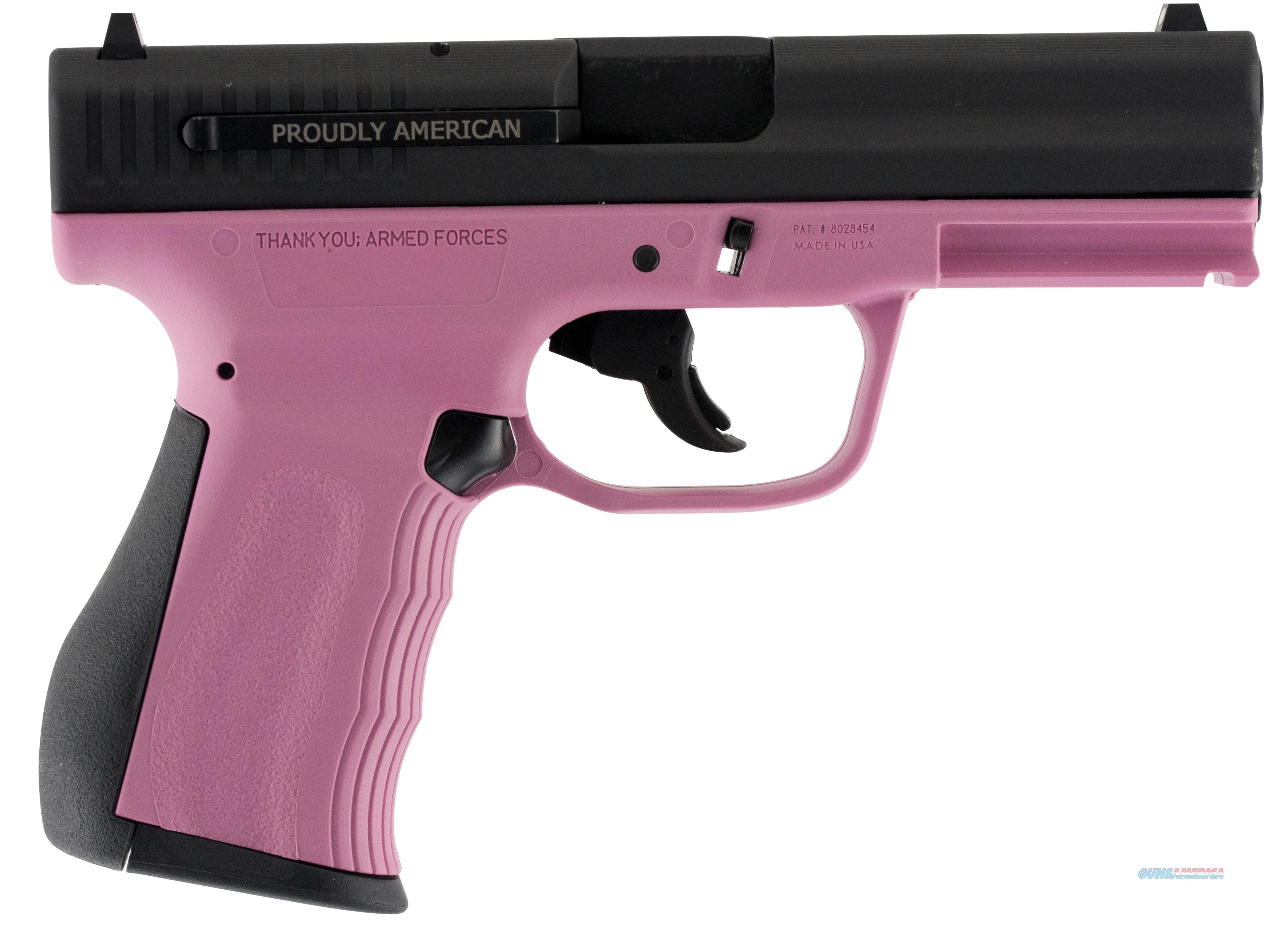 """Fmk Firearms G9c1g2pkcm 9C1 G2 *State Approved* Double 9Mm Luger 4"""" 10+1 Pink Polymer Grip/Frame Black Carbon Steel FMKG9C1G2EPKCM  Guns > Pistols > F Misc Pistols"""