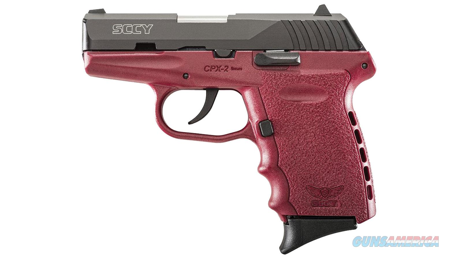 Sccy Cpx-2 Cbcr 9Mm Black/Crimson (No External Safety) CPX 2CBCR  Guns > Pistols > S Misc Pistols