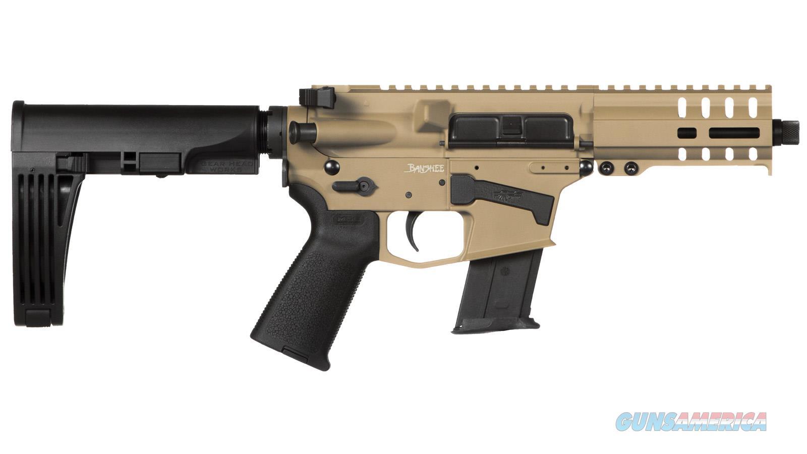 """Cmmg Banshee Pistol 5.7X28mm 5"""" 20Rd Fde Mlok Brace 57A18CD-FDE  Guns > Pistols > C Misc Pistols"""